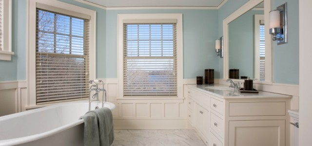Foolproof Bathroom Color Schemes. blue-cottage-bathroom